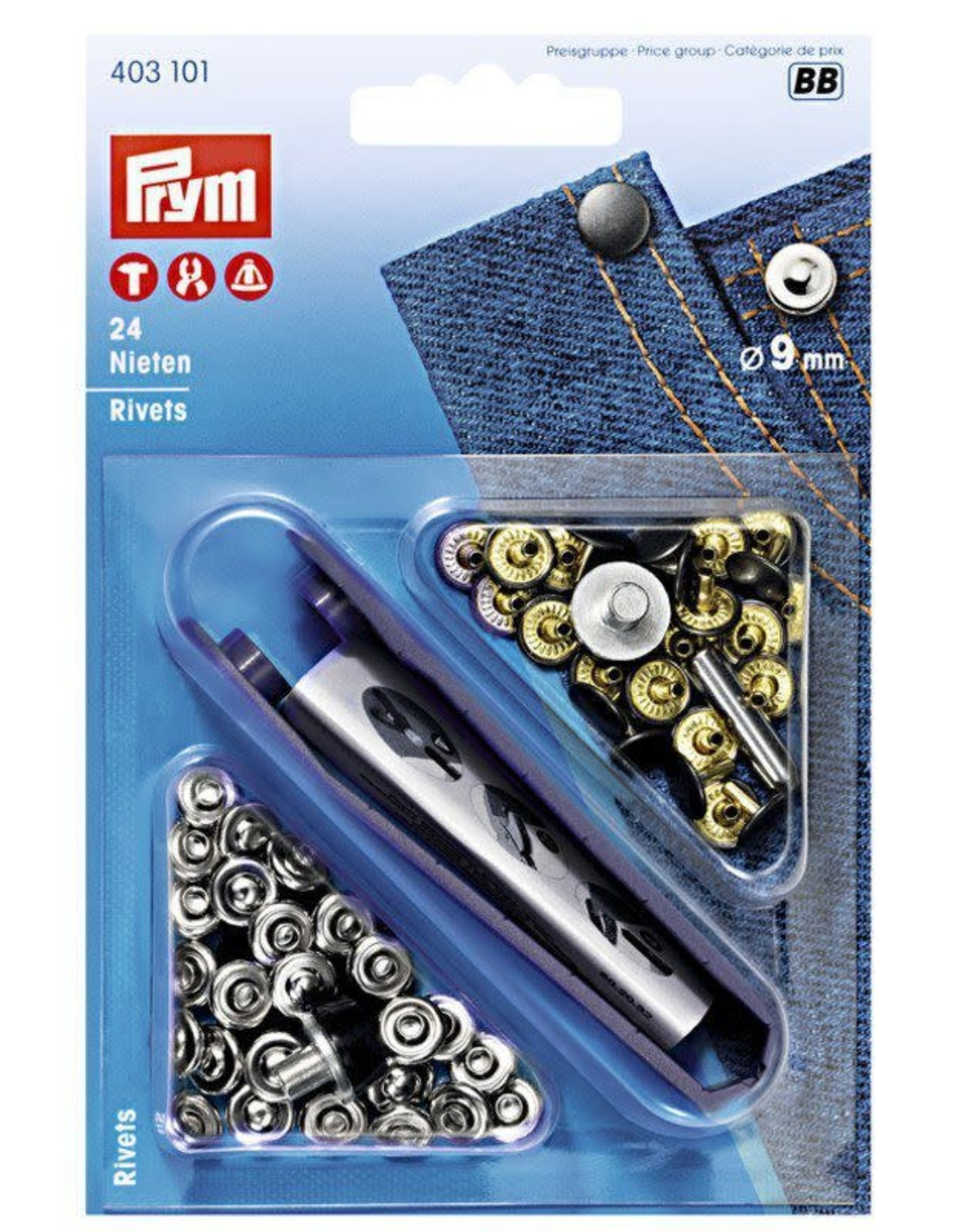 Prym 403.101 - Siernieten 9mm - Zilver