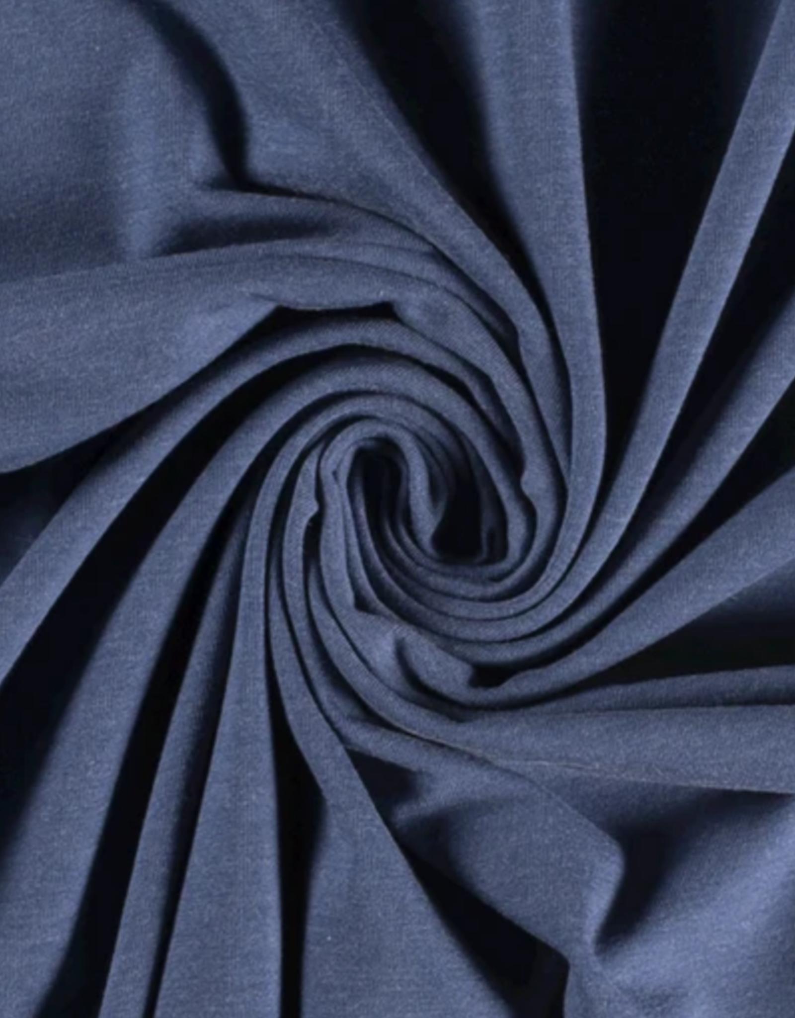Katoentricot - Gemeleerd Licht Jeansblauw