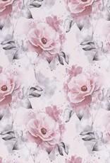 Tricot - Aquarelle Roze Bloemen