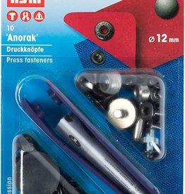 Prym Prym 390.339 - Anorak drukknopen - 12mm - Zwart