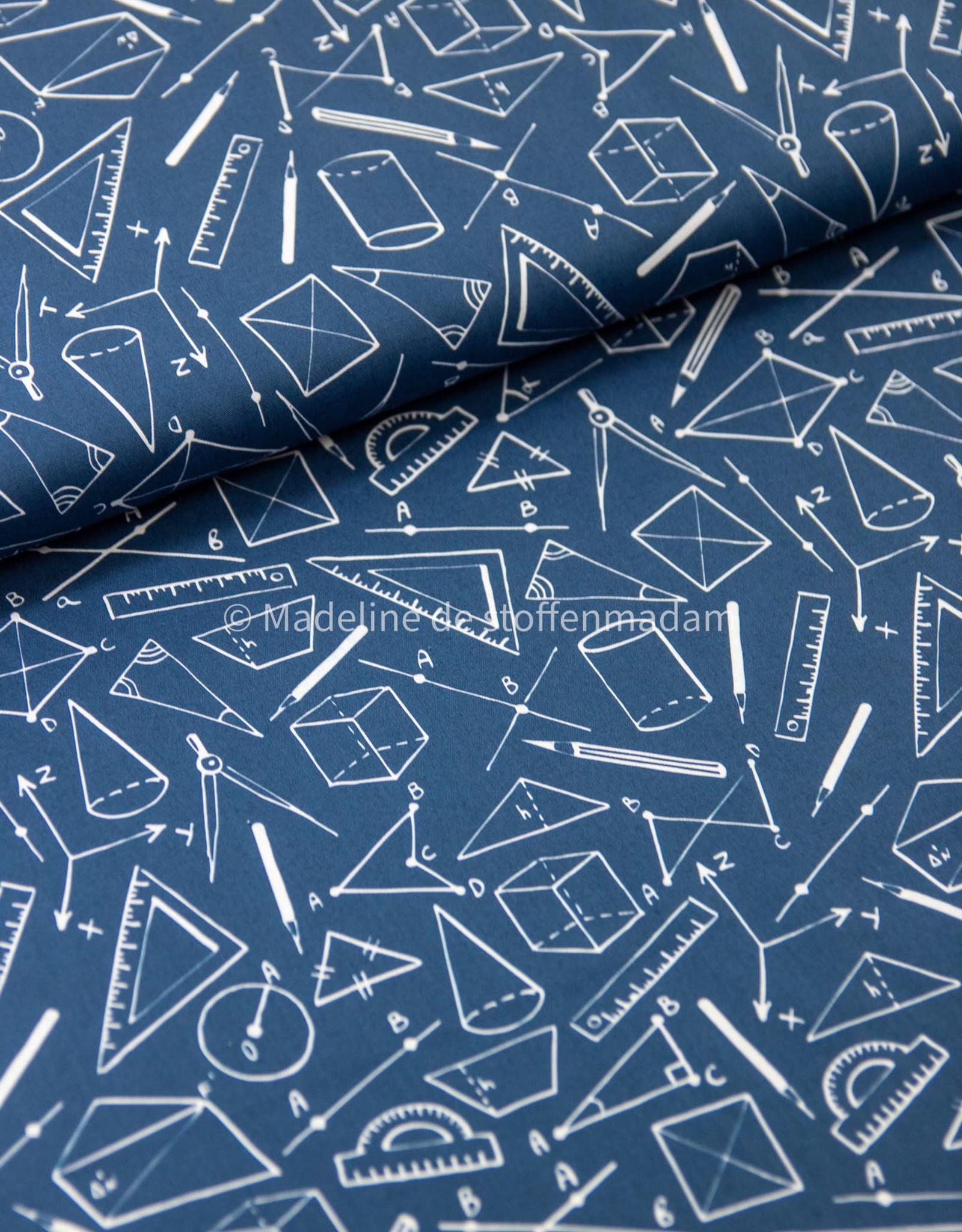 Katoen - Geometric Blauw