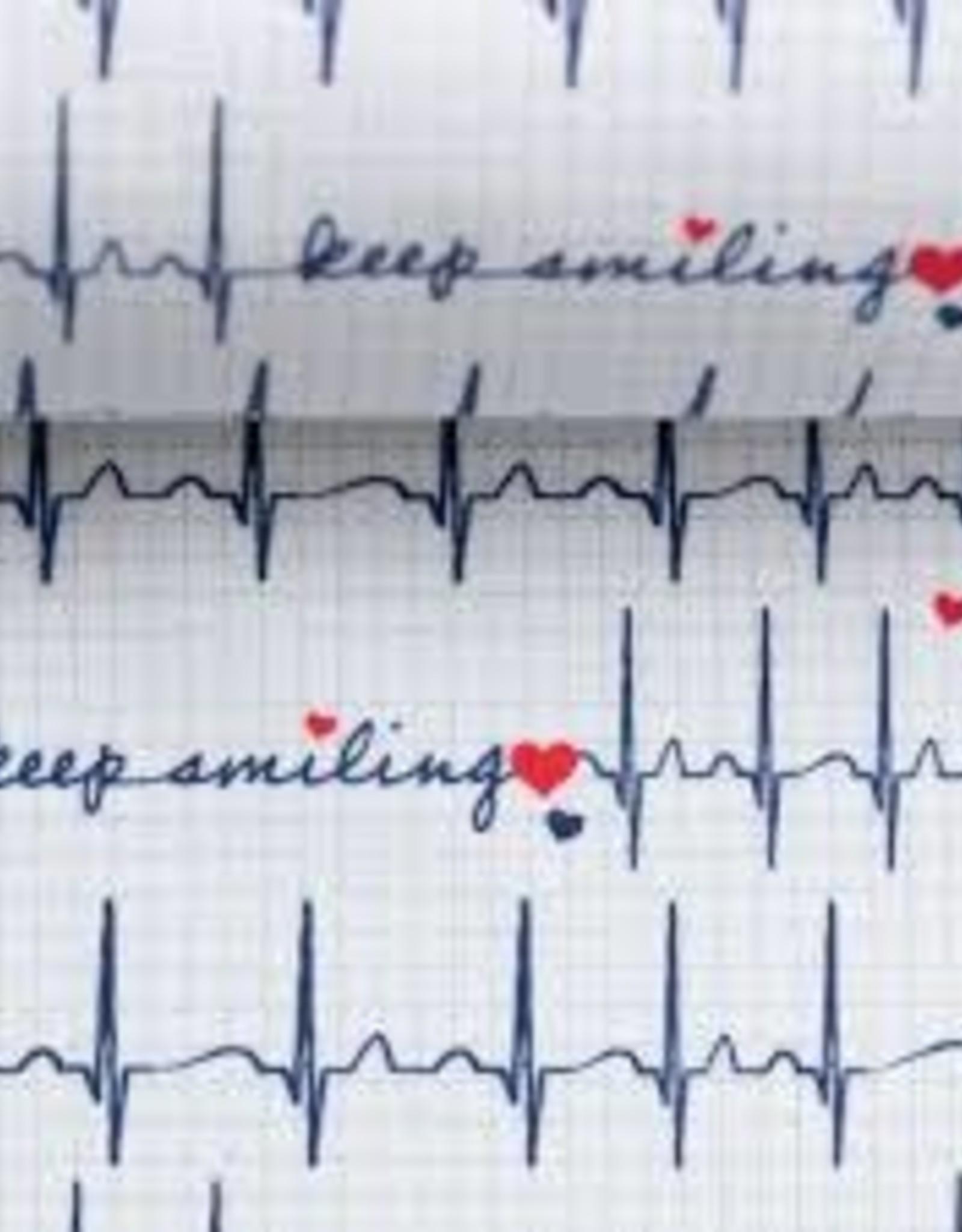 Katoen - Heartbeat White