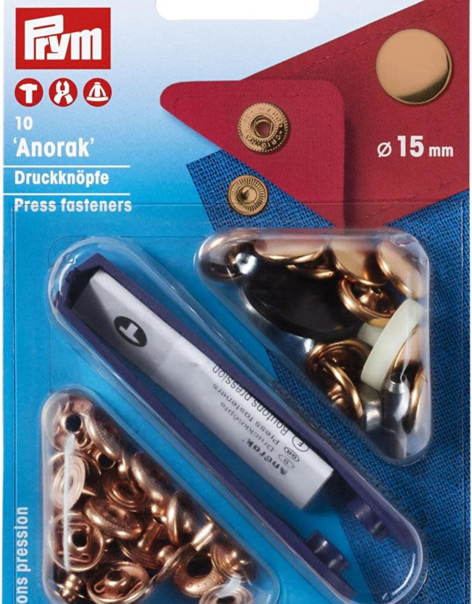 Prym Prym 390.312 - Anorak drukknopen - 15mm - Rosegoud