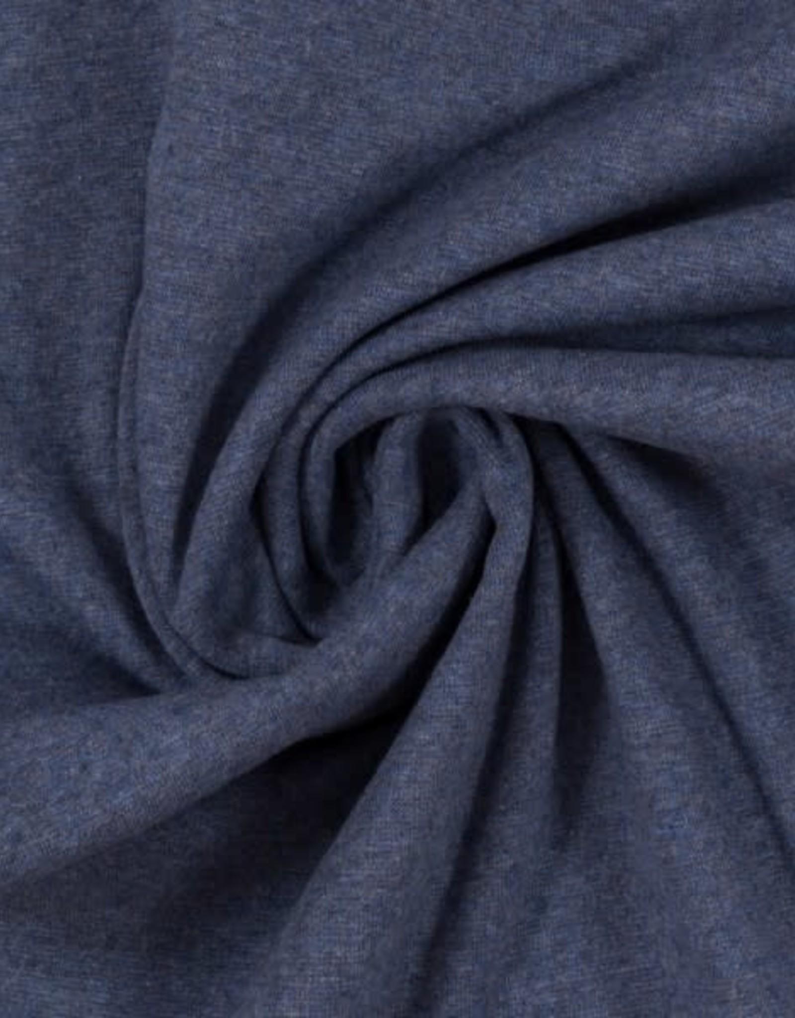 Boordstof - Jeansblauw Gemeleerd