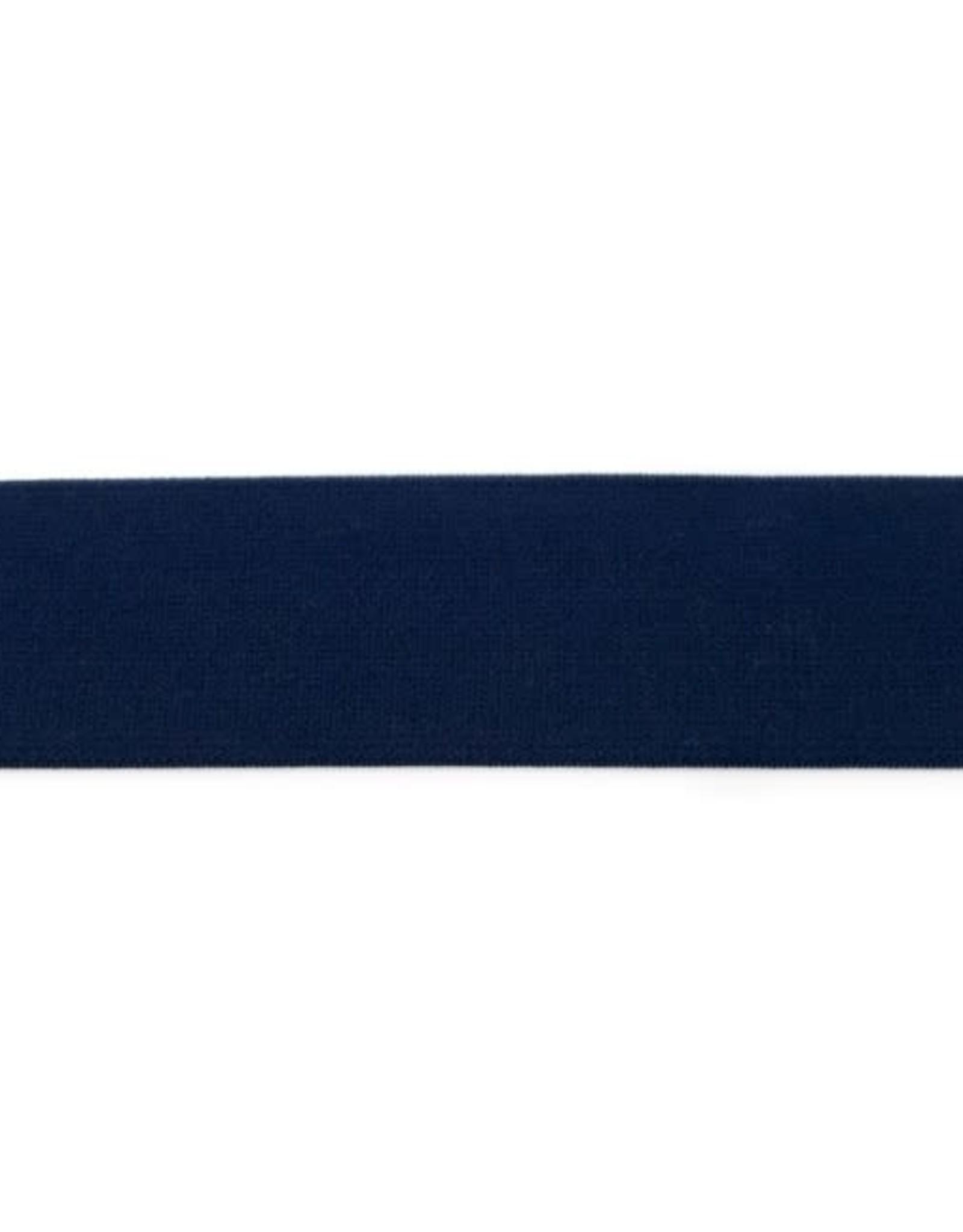 Soft elastiek 40mm - Donkerblauw