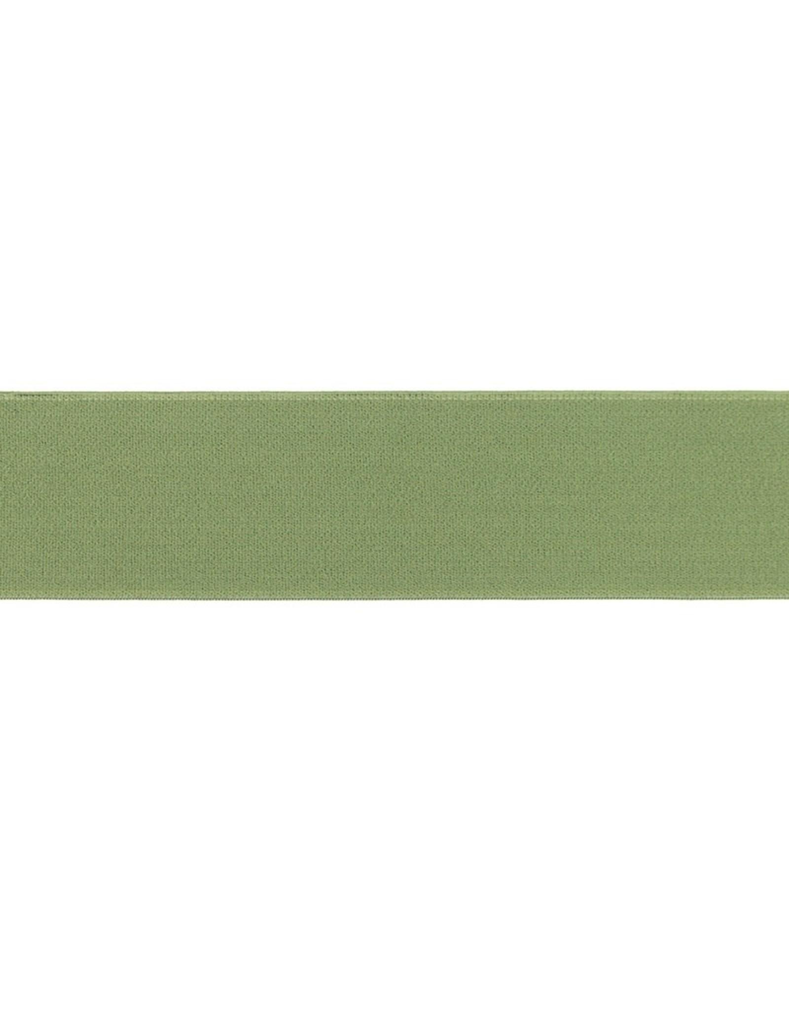 Soft elastiek 40mm - Olijfgroen