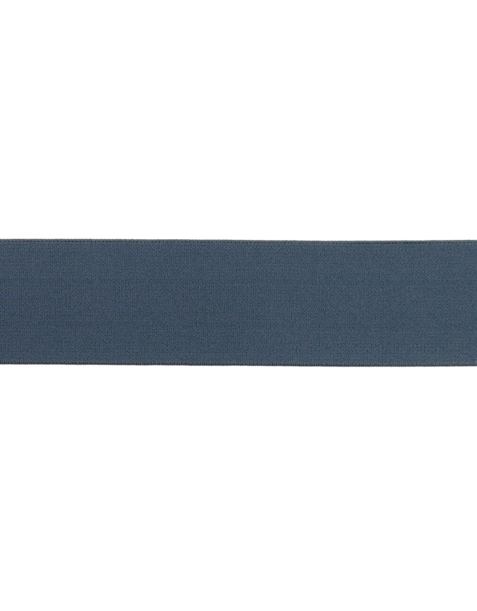 Soft elastiek 40mm - Donker Jeansblauw