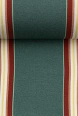 Viscose - Big Stripe Green