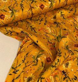 Viscose - Sunny Flowers Yellow