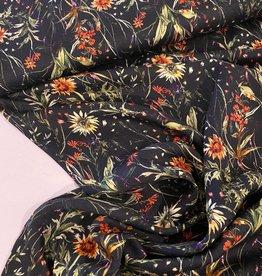 Viscose - Sunny Flowers Black