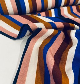 Viscose - Stripes Blue/Terracotta
