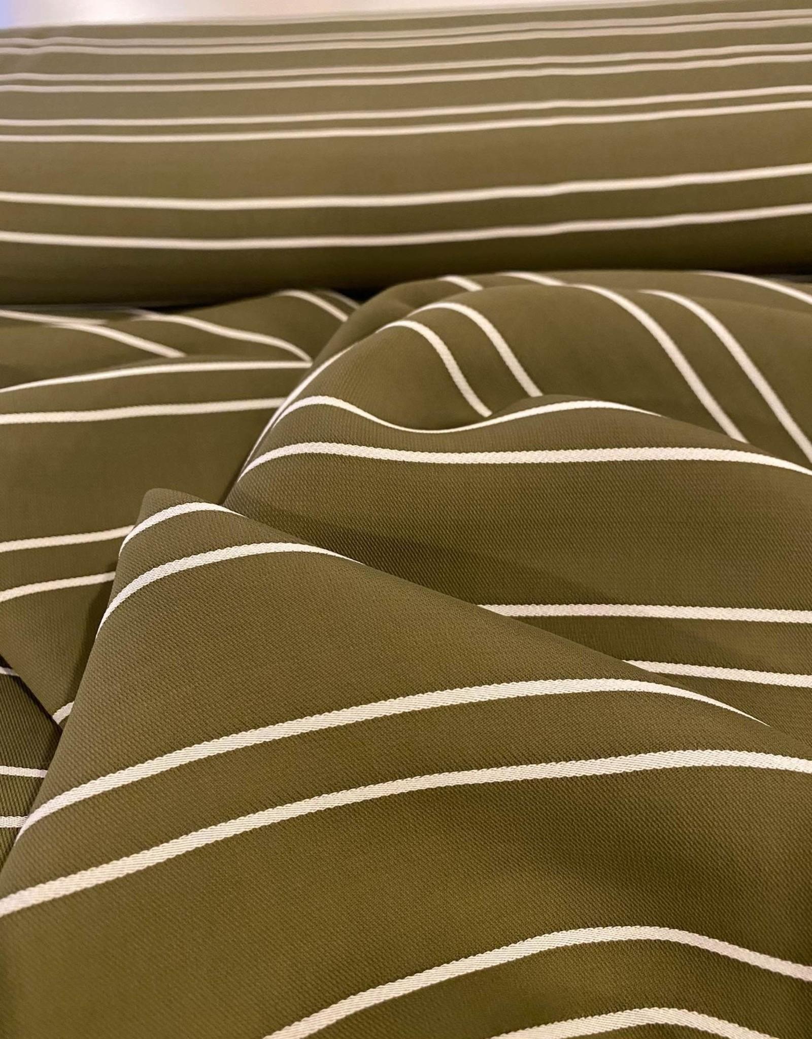Viscose - Stripes Khaki