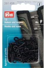 Prym Prym 261.458 - Haken en - ogen nr.9 - Zwart
