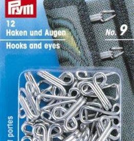 Prym Prym 261.458 - Haken en - ogen nr.9 - Zilver