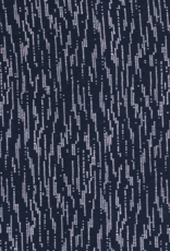 Viscose Tricot - Dotted Marine