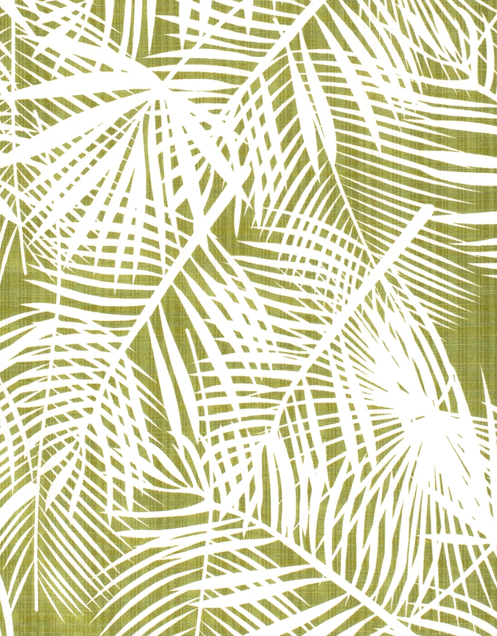 Katoen Linnenlook - Palms Green