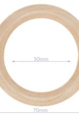 Houten ring naturel - buitenmaat 70mm