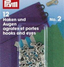 Prym Prym 263.845 - Haken en - ogen nr.2 - Zilver