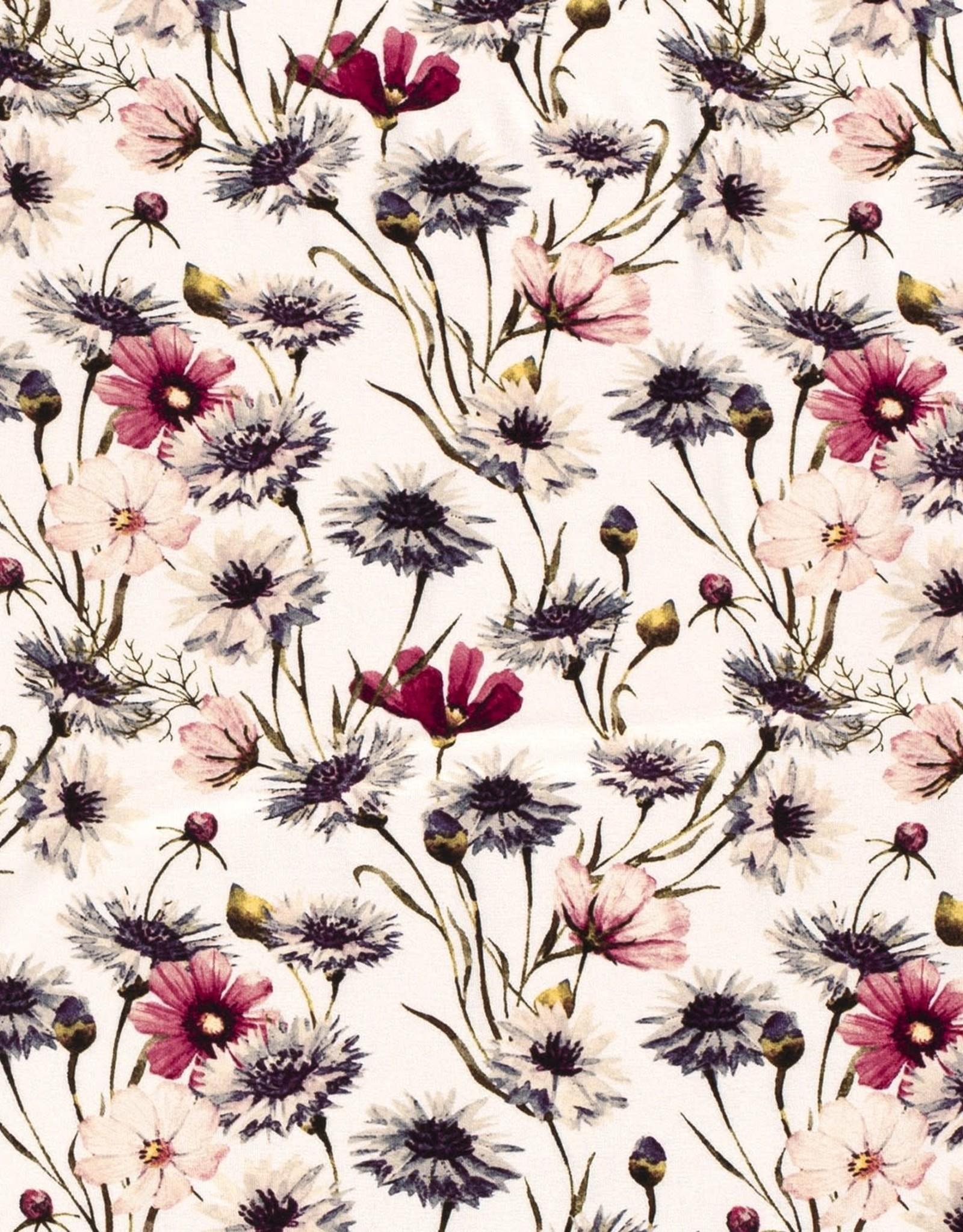 Viscose Tricot - Flores