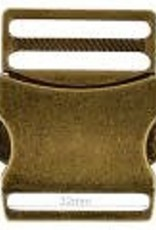 Metalen Klikgesp 32mm - Brons