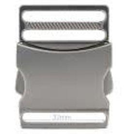 Metalen Klikgesp 32mm - Mat Zilver