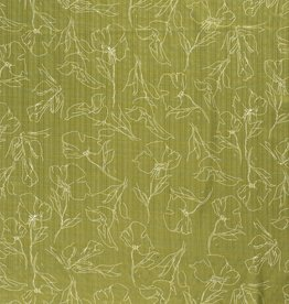 Katoen Viscose - Drawings Green