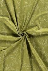 Katoen Viscose - Drawings Green
