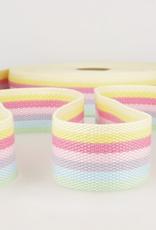 Tassenband - Rainbow Pastel - 40mm