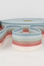 Tassenband - Rainbow Blue - 40mm