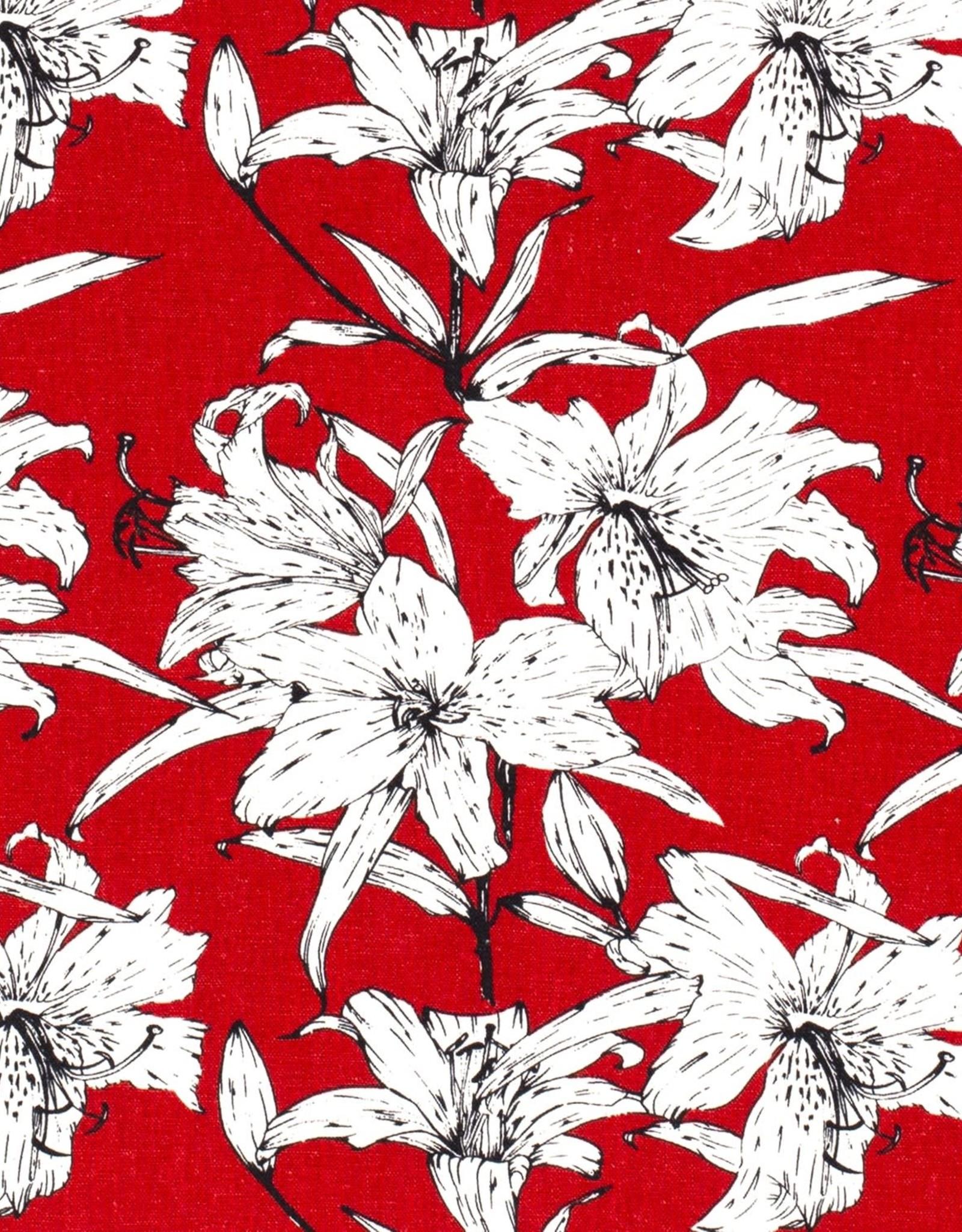Viscose-linnen - Lorea Rood