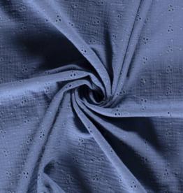 Tetra Broderie - Jeansblauw