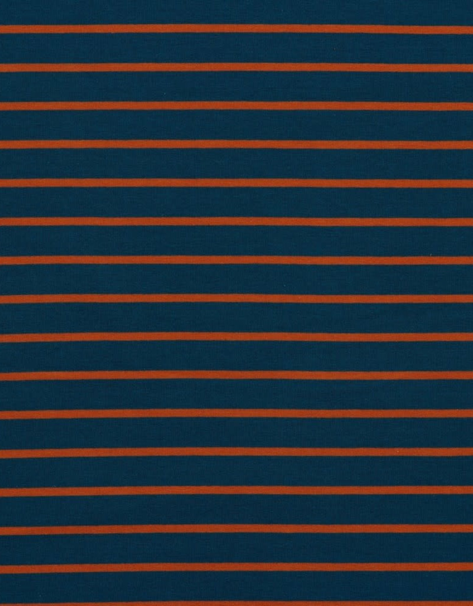 French Terry Striped - Jeans/Terra