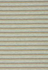 French Terry Striped - Gemeleerd Grijs