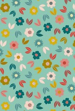French Terry - Flowery Mint
