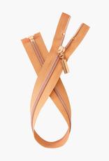 Metalen Deelbare Rits - Copper - 60cm