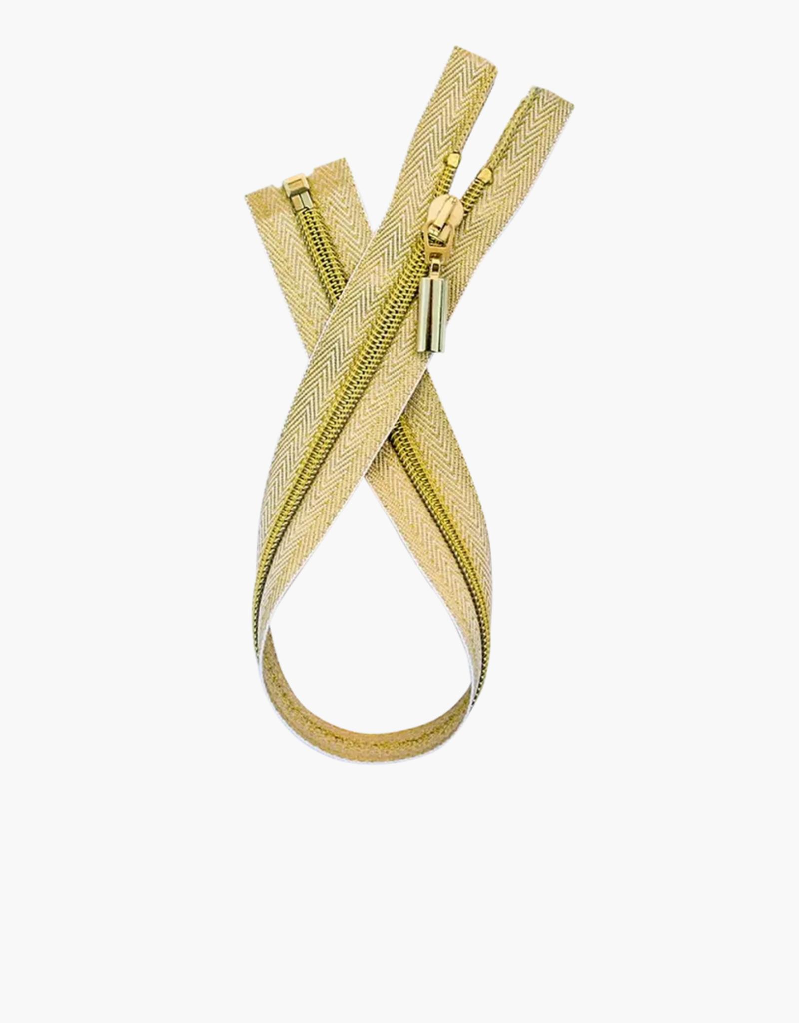 Metalen Deelbare Rits - Gold - 50cm