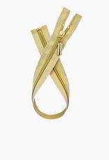 Metalen Deelbare Rits - Gold - 60cm