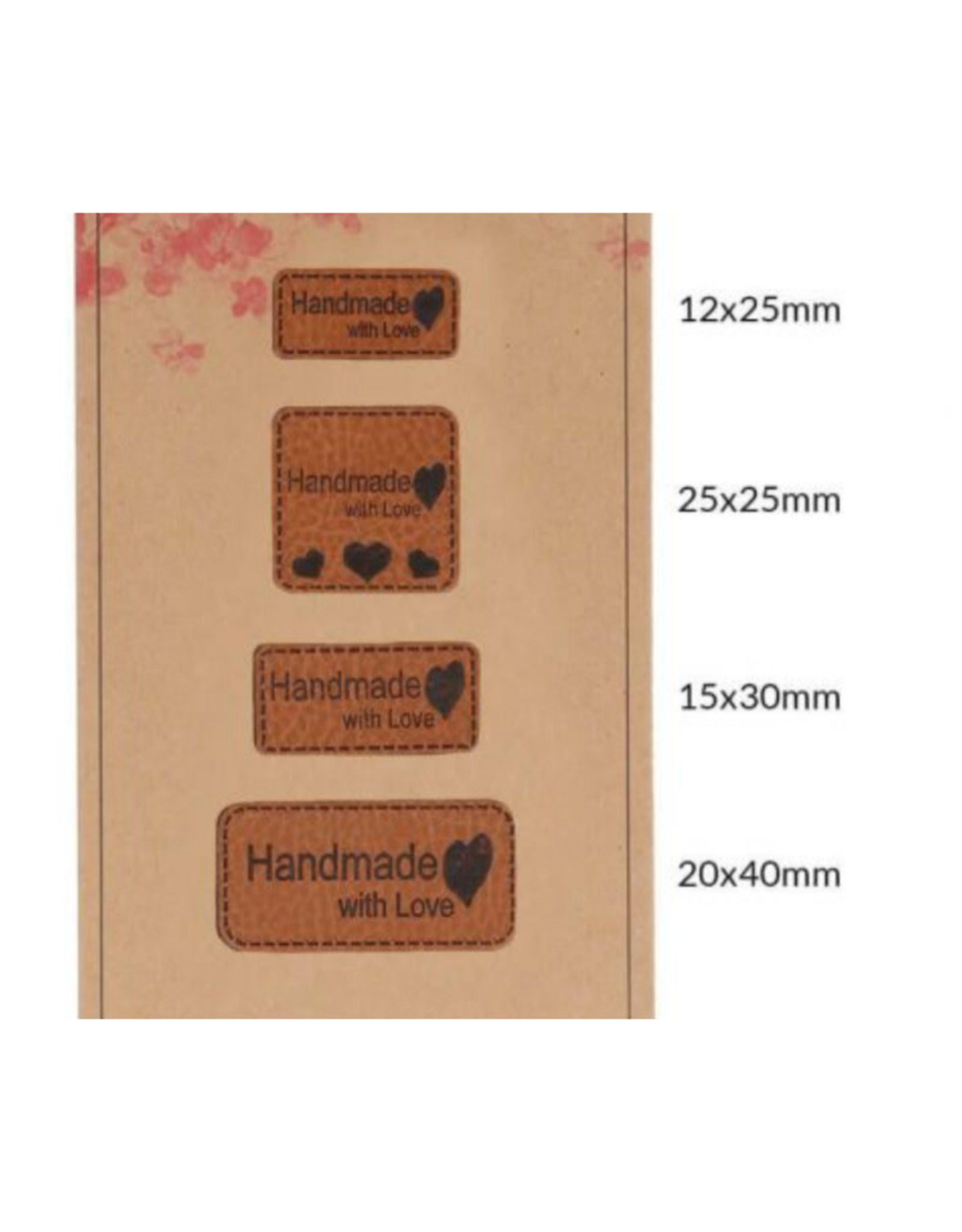 Set Lederen Labels - Handmade