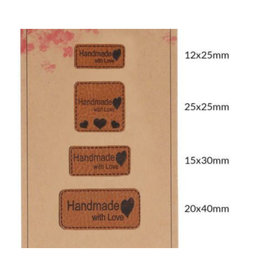 Set Lederen Labels - Handmade With Love