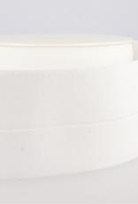 Elastiek 30mm (60mm ) - Voorgevouwen - Wit