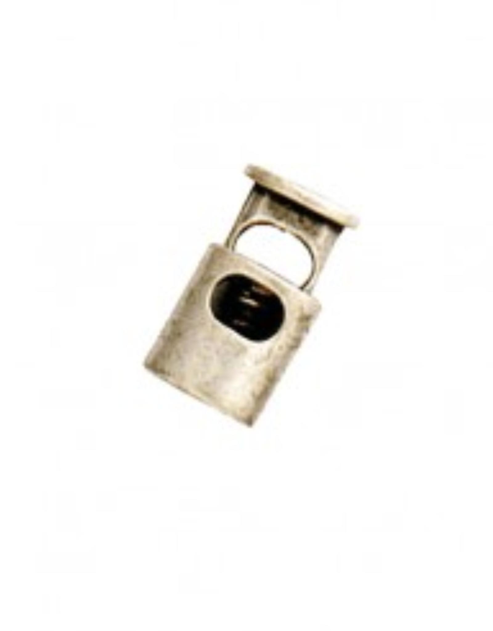 Koordstopper 1-gaats - Nikkel