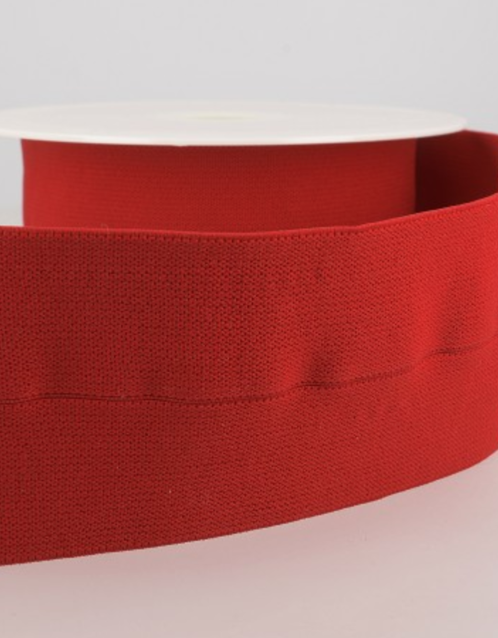 Elastiek 30mm (60mm ) - Voorgevouwen - Rood