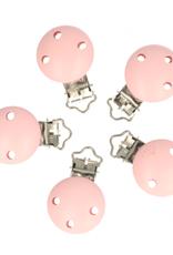 Houten Speenklem - Baby Roze