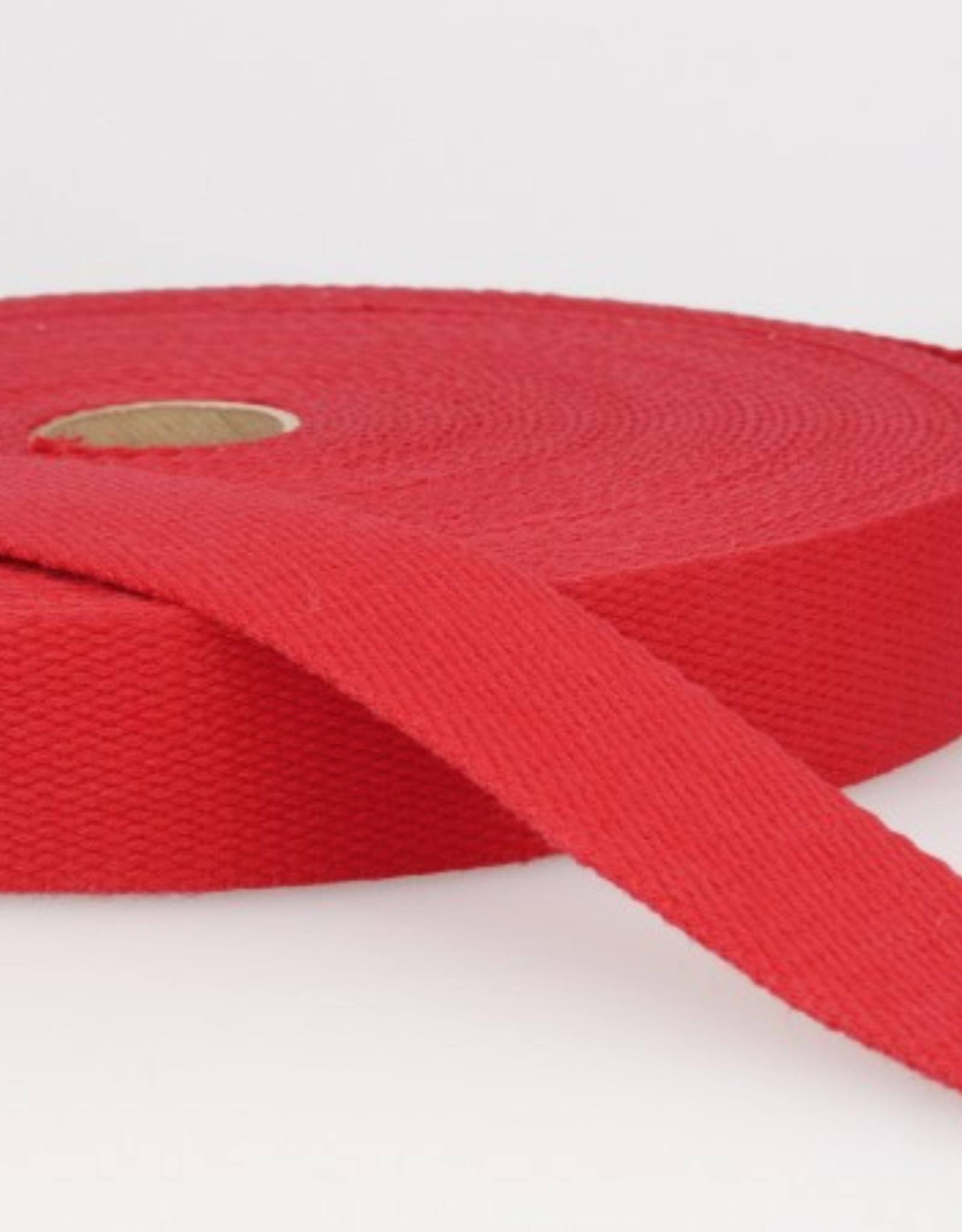 Tassenband - Helderrood - 25mm