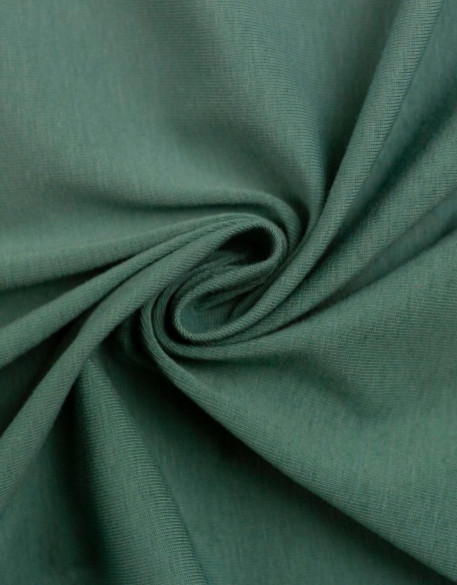 Katoentricot - Smaragd