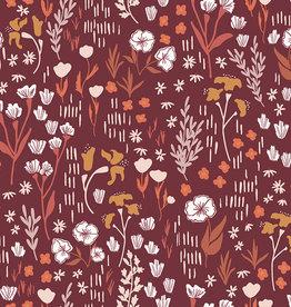 Micheal Miller Katoen - Cotton + Steel - Meadow in Deep Rose