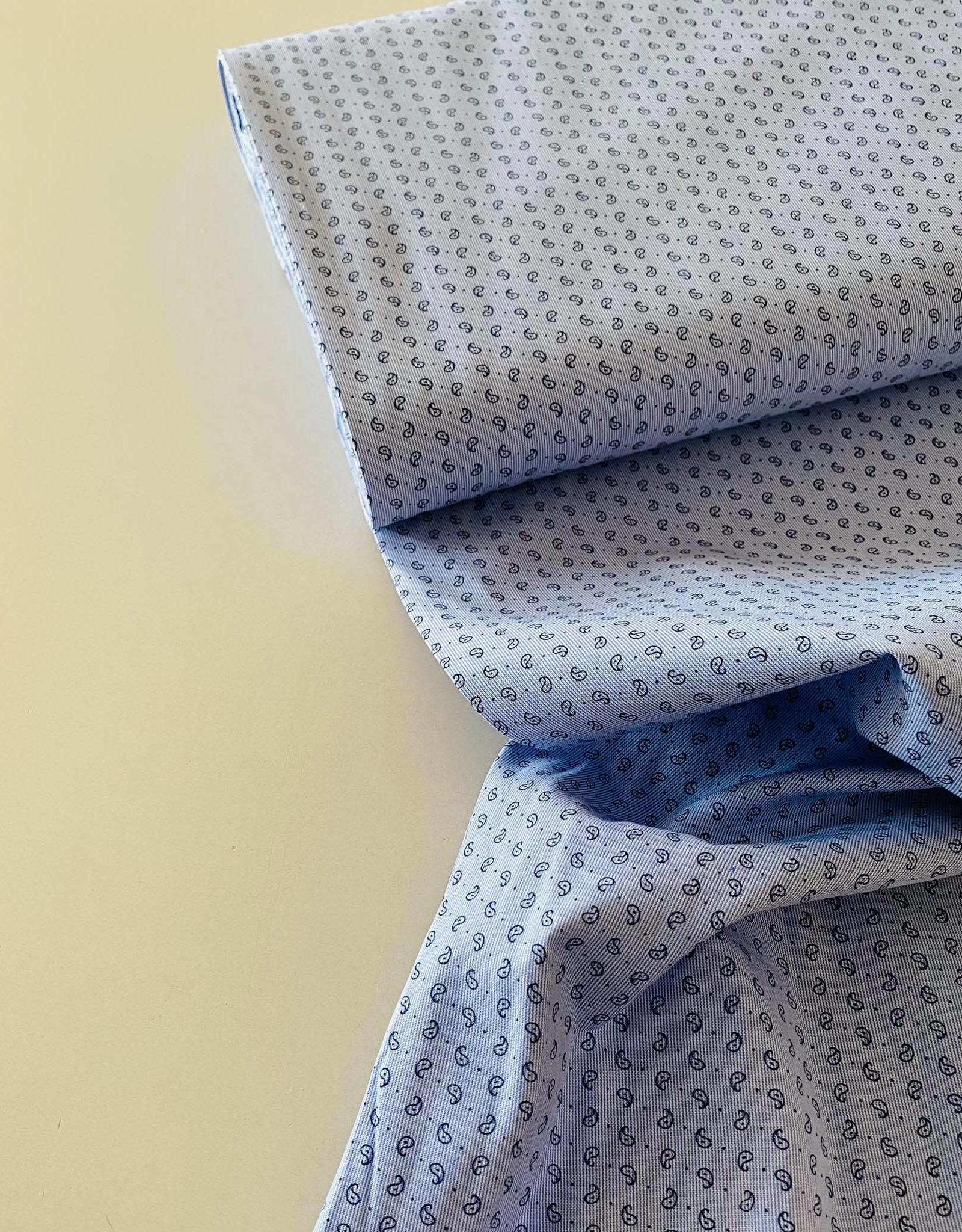 Katoen - Hemdenstof Lichtblauw