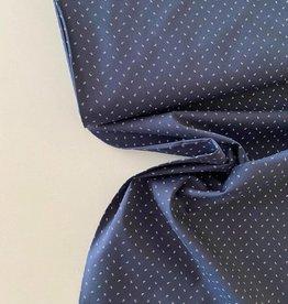 Katoen - Hemdenstof Marineblauw Henk