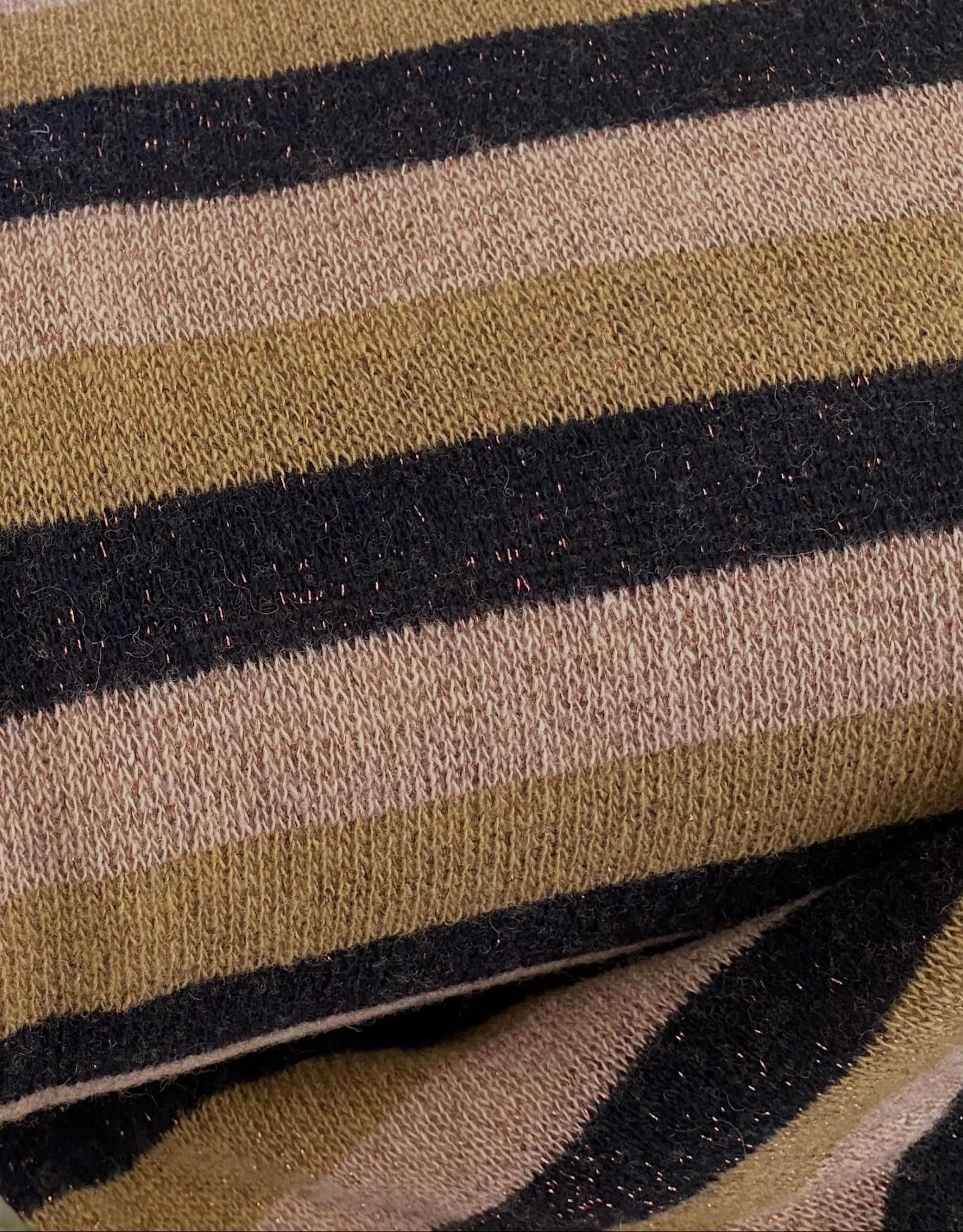 Zacht Breisel met Lurex - Stripes Oudroze