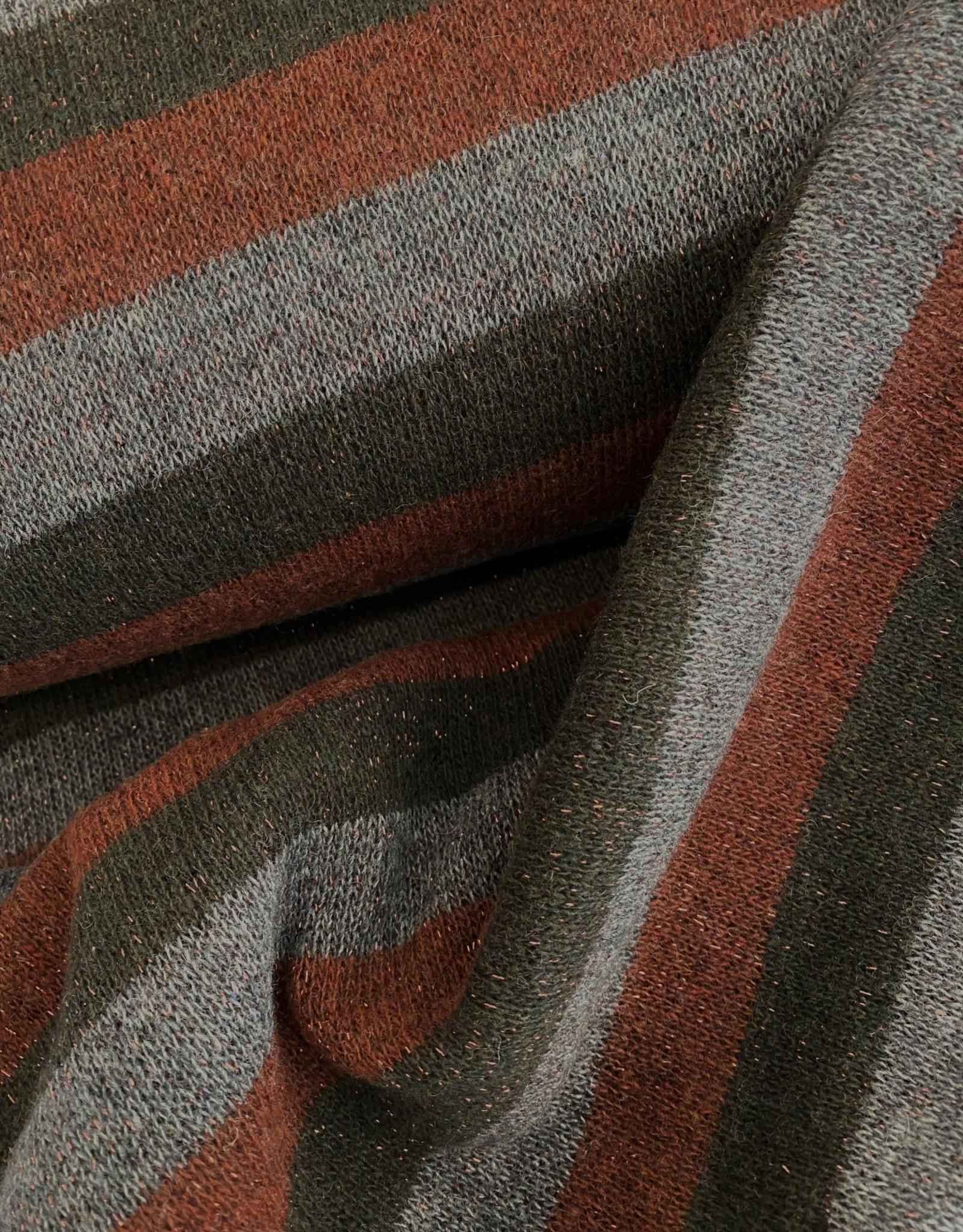 Zacht Breisel met Lurex - Stripes Rust